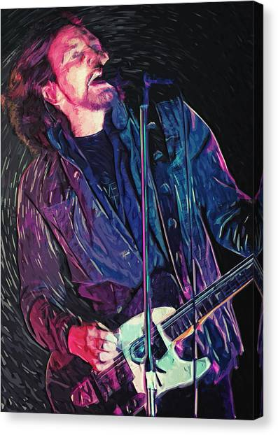 Pearl Jam Canvas Print - Eddie Vedder by Zapista