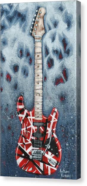 Rock And Roll Canvas Print - Eddie's Frankenstrat by Arturo Vilmenay