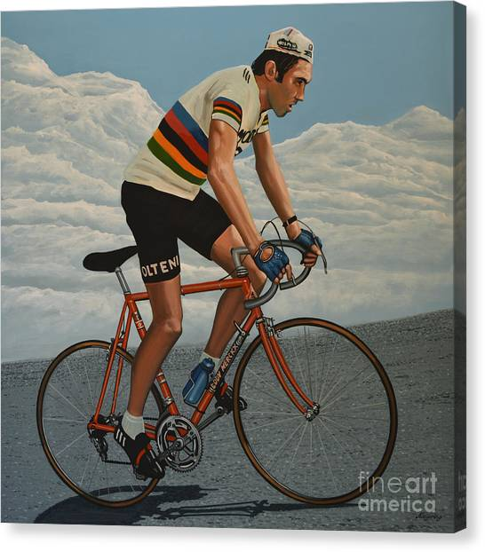 Goal Canvas Print - Eddy Merckx by Paul Meijering