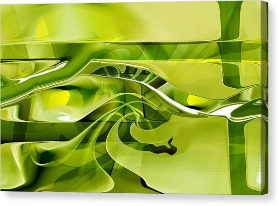 Canvas Print featuring the digital art Eden 1 - The Serpent by rd Erickson