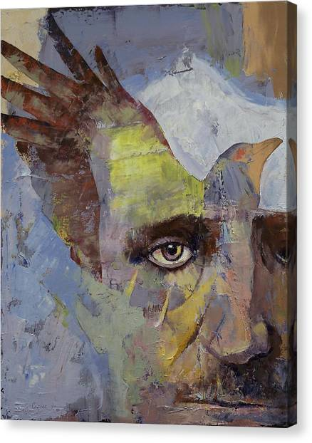 Poe Canvas Print - Poe by Michael Creese