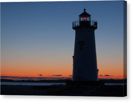 Edgartown Light At Sunrise Canvas Print