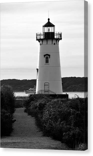 Edgartown Lighthouse Canvas Print by David Champigny