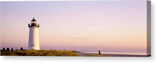 Marthas Vineyard Canvas Print - Edgartown Lighthouse, Marthas Vineyard by Panoramic Images