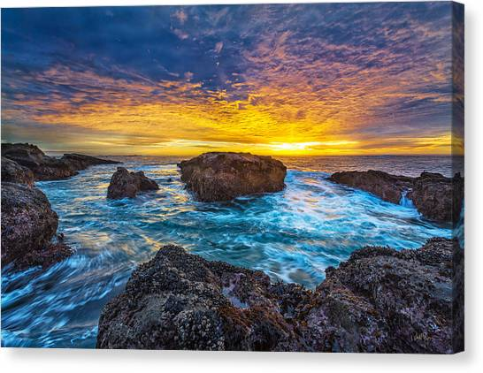 Ocean Sunset Canvas Print - Edge Of North America by Robert Bynum