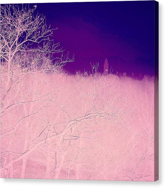 Gothic Art Canvas Print - Edge Of The City by David Lubetsky