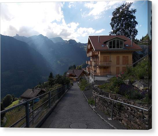 Edge Of Wengen Canvas Print