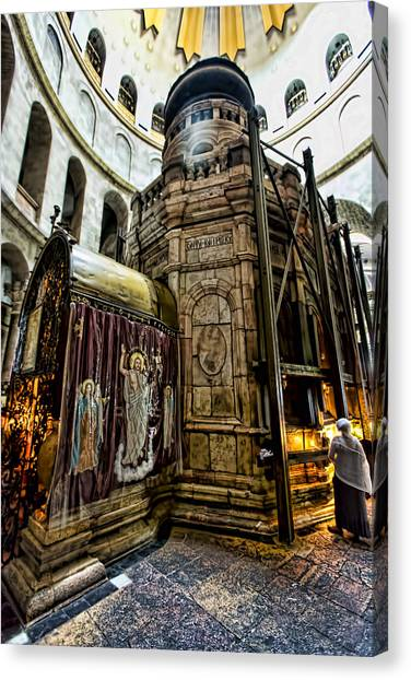 Israeli Canvas Print - Edicule Of The Tomb by Stephen Stookey