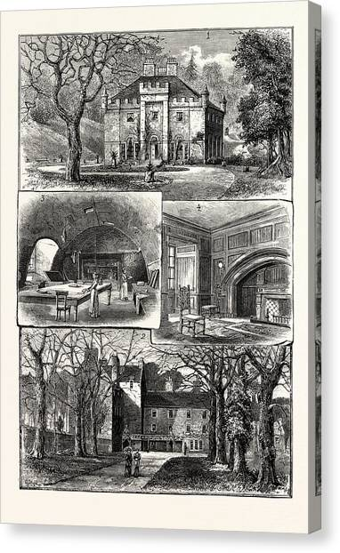 Edinburgh 1. The Hermitage Braid 2. Craig House 3 Canvas Print by English School