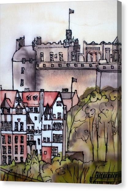 Edinburgh Castle Scotland Canvas Print
