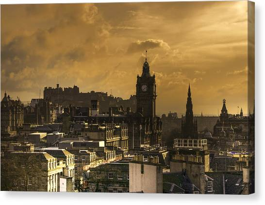Edinburgh Dusk Canvas Print