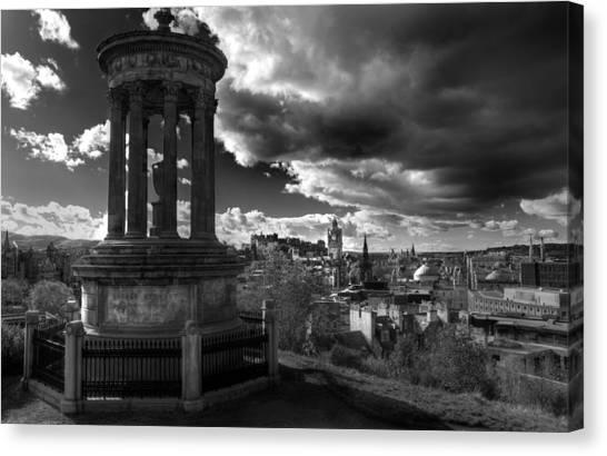 Edinburgh From Calton Hill Canvas Print