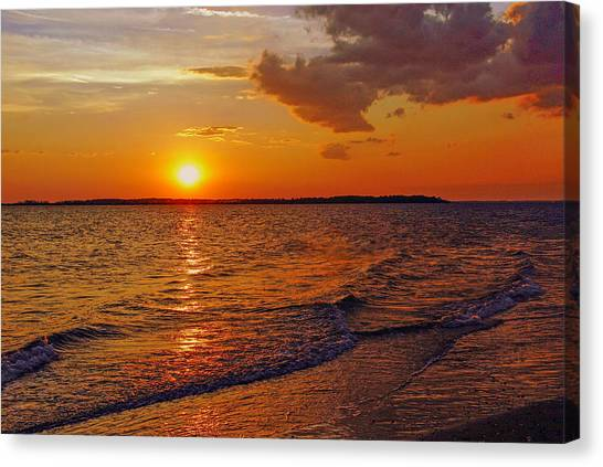 Edisto Island Sc Sunset Canvas Print