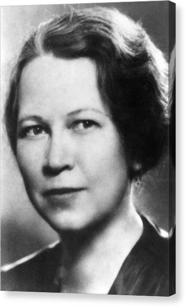 Cornell University Canvas Print - Edith Quimby by Emilio Segre Visual Archives/american Institute Of Physics
