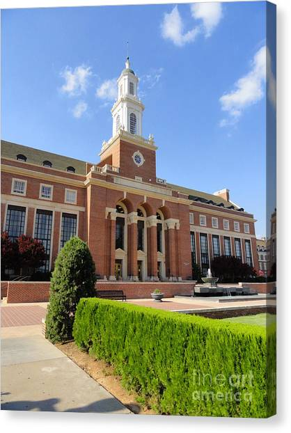 Oklahoma State University Canvas Print - Edmon Low Library by Meandering Photography