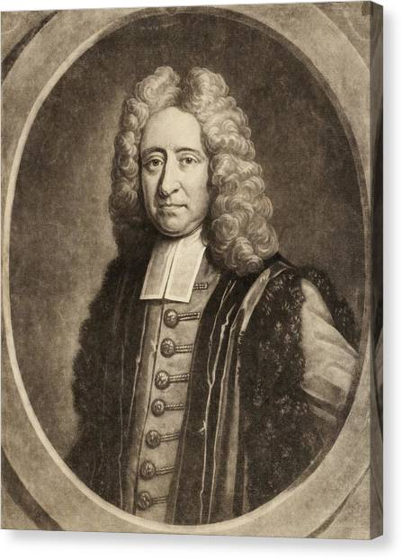 Professors Canvas Print - Edmond Halley by Gregory Tobias/chemical Heritage Foundation