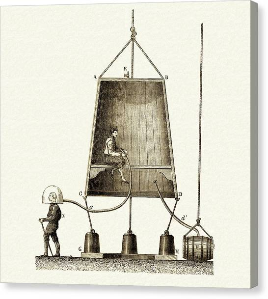 Diving Bell Canvas Print - Edmund Halley's Diving Bell by Sheila Terry
