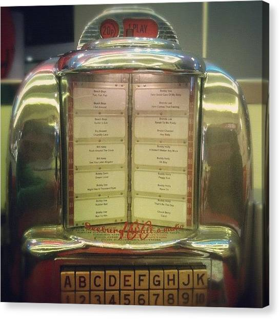 Jukebox Canvas Print - Eds - G by Giampiero Leonardi