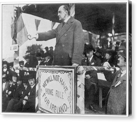 Edward Carson, Leader Of The  Irish Canvas Print by Mary Evans Picture Library