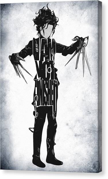 Johnny Depp Canvas Print - Edward Scissorhands - Johnny Depp by Inspirowl Design