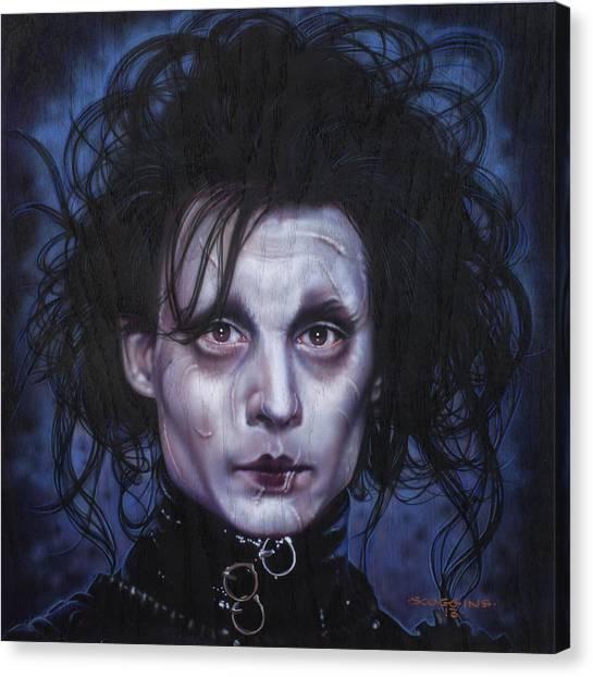 Johnny Depp Canvas Print - Edward Scissorhands by Timothy Scoggins