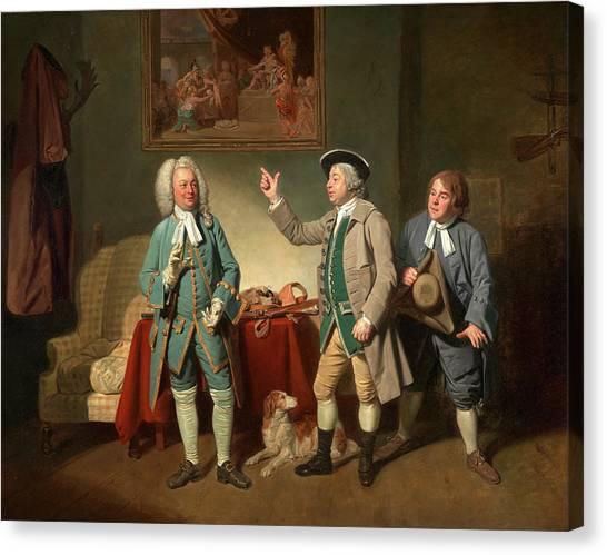 Woodcocks Canvas Print - Edward Shuter, John Beard, And John Dunstall In Isaac by Litz Collection