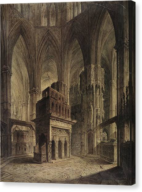 Vault Canvas Print - Edward The Confessors Shrine, Westminster Abbey by John Coney