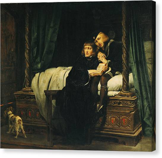 Tower Of London Canvas Print - Edward V 1470-83 And Richard, Duke Of York In The Tower Les Enfants Dedouard 1830 Oil On Canvas See by Hippolyte Delaroche