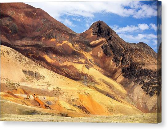 Bolivian Canvas Print - Effluent Leaking From Mine by Ashley Cooper/science Photo Library