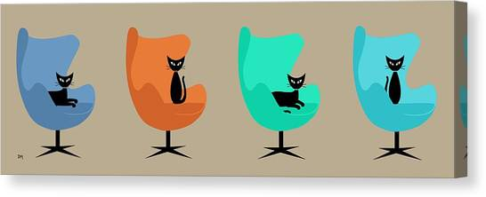 Egg Chairs Canvas Print