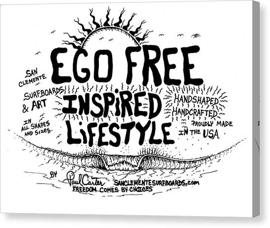 Ego Free Inspired Lifestyle Canvas Print