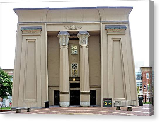 Atlantic 10 Canvas Print - Egyptian Building On Vcu Campus - Richmond Virginia by Brendan Reals