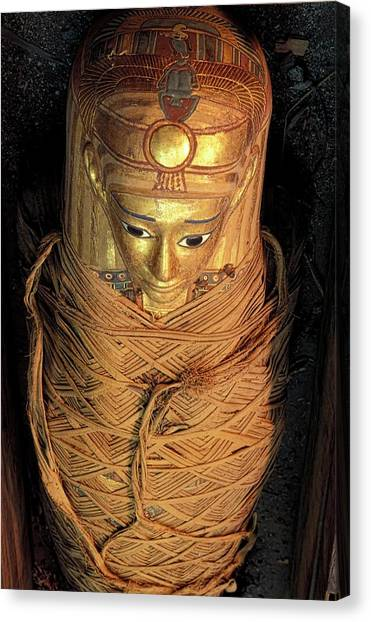 Hellenistic Art Canvas Print - Egyptian Mummy by Patrick Landmann/science Photo Library