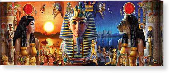 Andrew Canvas Print - Egyptian Triptych 2 by MGL Meiklejohn Graphics Licensing
