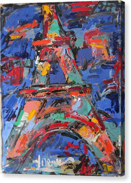 Eiffel Blue Canvas Print