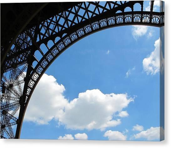 Eiffel Clouds Canvas Print