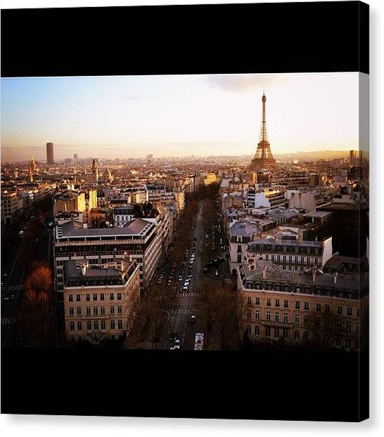 Paris Canvas Print - #eiffel #eiffeltower #eyfel #paris by Ozan Goren