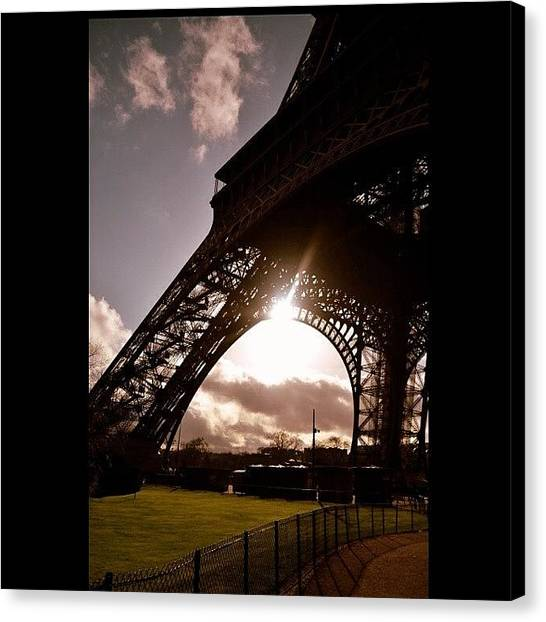 Paris Canvas Print - #eiffel #eyfel #eiffeltower #paris by Ozan Goren