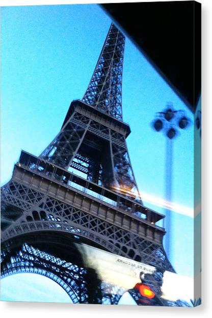 Eiffel In Motion Canvas Print