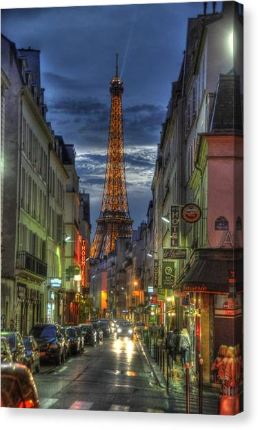 Eiffel Over Paris Canvas Print