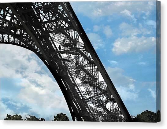 Eiffel Stairs Canvas Print