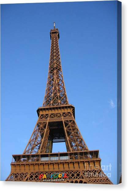 Eiffel Tower 2005 Ville Candidate Canvas Print
