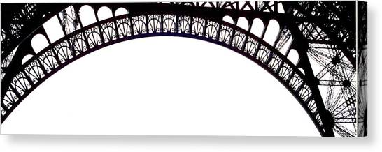 Eiffel Tower Abstract Canvas Print by Mary Bedy