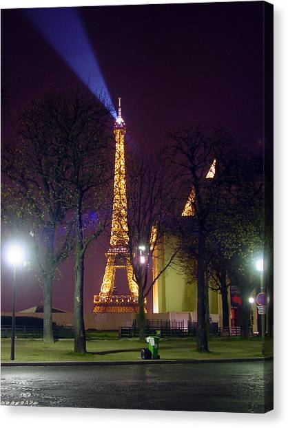 Eiffel Tower As A Lighthouse Canvas Print