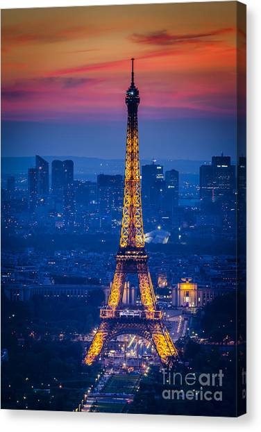Eiffel Tower At Twilight Canvas Print