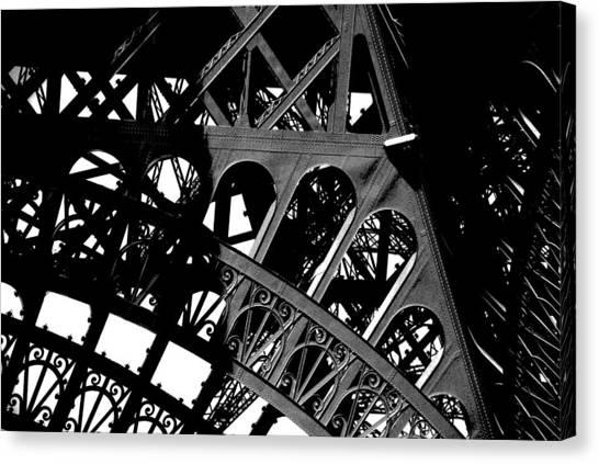 Eiffel Tower Bw Canvas Print by Jacqueline M Lewis