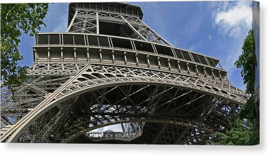 Eiffel Tower First Balcony Canvas Print by Gary Lobdell