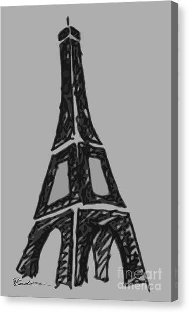 Eiffel Tower Graphic Canvas Print
