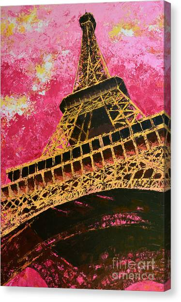 Eiffel Tower Iconic Structure Canvas Print