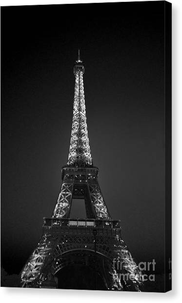 Eiffel Tower Infrared Canvas Print